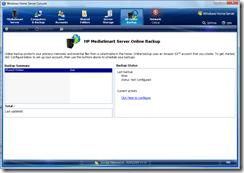 Online Backup Tab