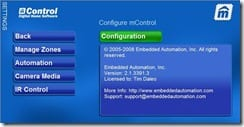 mControl Web Interface