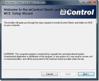 mControl Clients and Addins for MCE