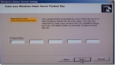 WHS Product Key