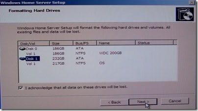 Format Drives Screen