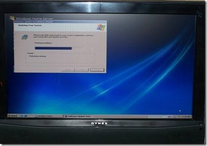 Really Installing WHS Screen
