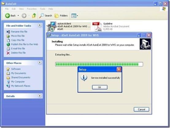 AutoExit Client Screen