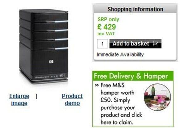 Buy an HP EX490 MediaSmart Windows Home Server from HP in