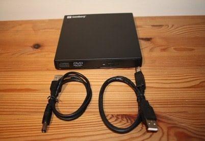 Sanberg USB DVD Mini Reader box contents