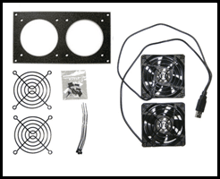USB Powered Cabinet Cooling Kit