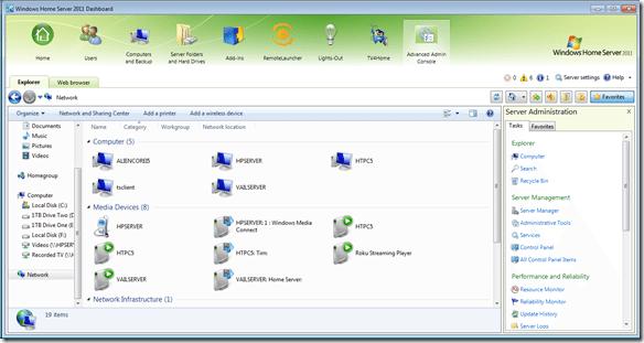 Advanced Admin Console