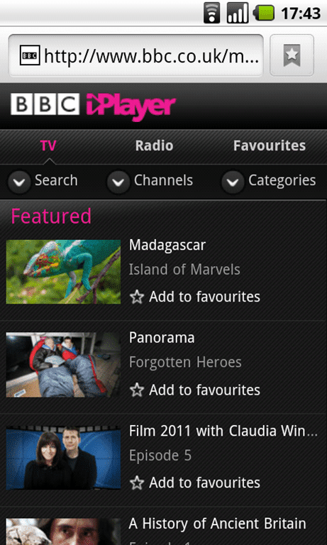 Android BBC iPlayer App Review - UK Only (For now) - Movies