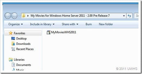 UWHS Review - My Movies for Windows Home Server 2011 2.0 Pre Release 7