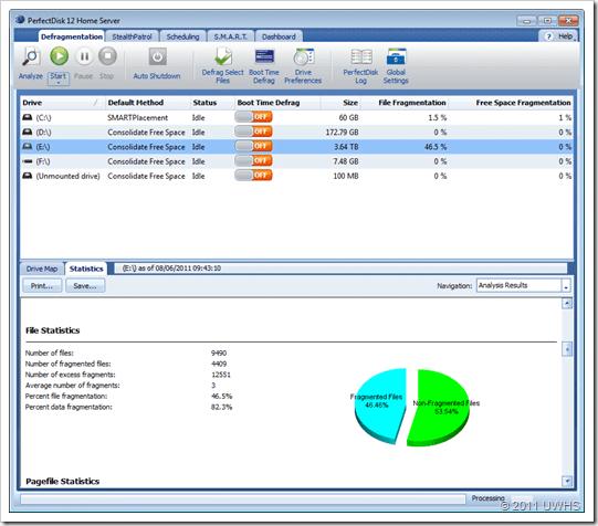 UWHS Review - PerfectDisk 12 Home Server for Windows Home Server 2011