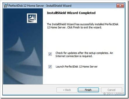 UWHS Review - PerfectDisk 12 Home Server for Windows Home Server 2011