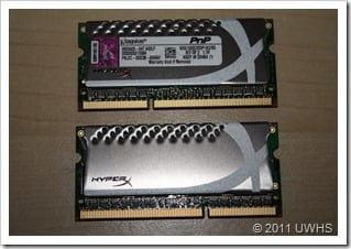 UWHS Review - Kingston HyperX Plug and Play DDR3 Laptop Memory