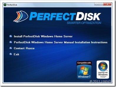 UWHS Review - PerfectDisk 12 Home Server for Windows Home Server V1