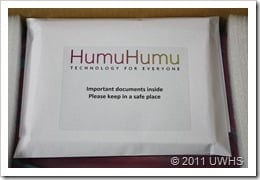 UWHS - Unboxing the HumuHumu Windows Home Server 2011 box