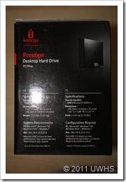 UWHS Review - Iomega Prestige Desktop Hard Drive 005
