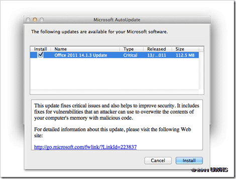 Microsoft Release Critical 14 1 3 Update for Office for Mac