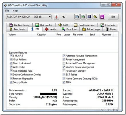 Plextor SATA 6 Info
