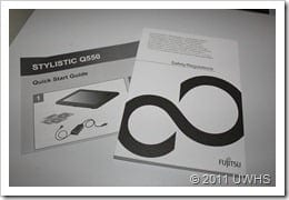 UWHS Review - Fujitsu STYLISTIC Q550 Slate - 6