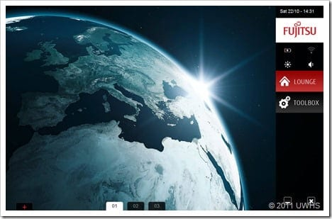UWHS Review - Fujitsu STYLISTIC Q550 Slate - Performance - Screens 2
