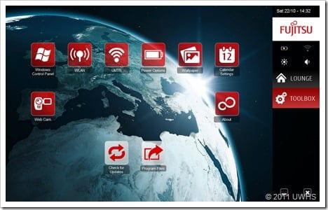 UWHS Review - Fujitsu STYLISTIC Q550 Slate - Performance - Screens 3
