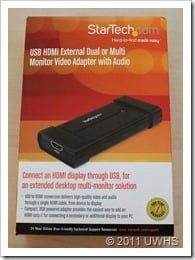 UWHS Review - StarTech USB HDMI adaptor 001