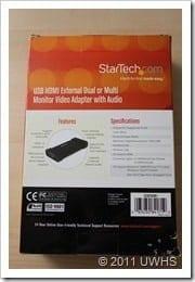 UWHS Review - StarTech USB HDMI adaptor 002