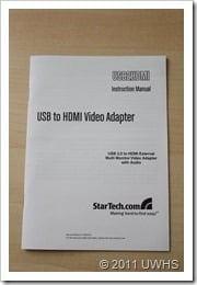 UWHS Review - StarTech USB HDMI adaptor 004