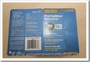 UWHS Review - Aleratec PortaStor Secure USB Flash Drive 004