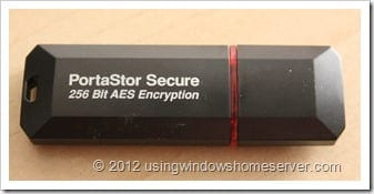 UWHS Review - Aleratec PortaStor Secure USB Flash Drive 010