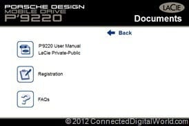 CDW Review of the LaCie Porsche Design Mobile Drive P9220 - 18