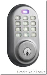 Yale Real Living_Keypad_Front