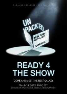 Samsung S4 invite