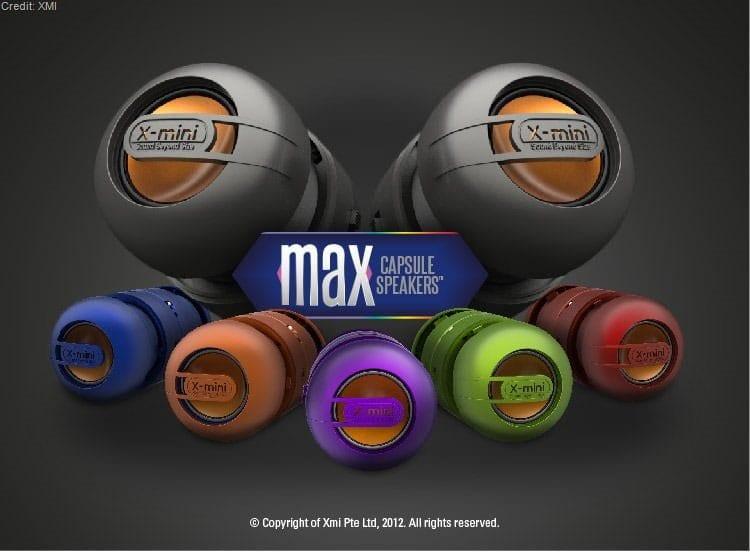 max capsule speakers x-mini parpul