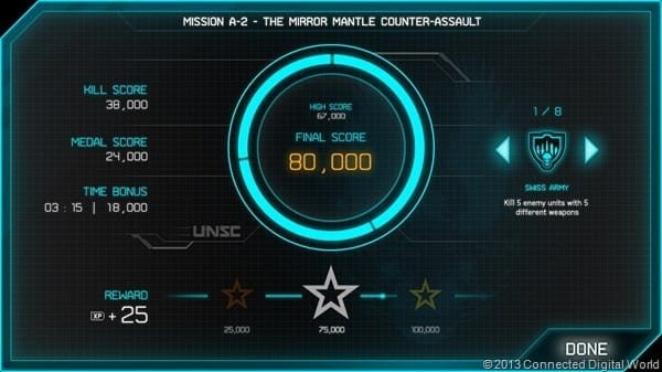 Halo Spartan Assault - Mission Score