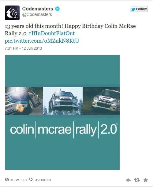 colin mcrae rally 2.0 twitter