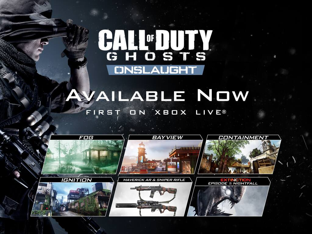 Call Of Duty Ghosts Dlc Onslaught Is Out Now For Xbox One And 360