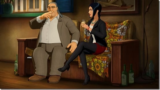 Broken Sword 5 - the Serpent's Curse - Nico and Laine on the Sofa