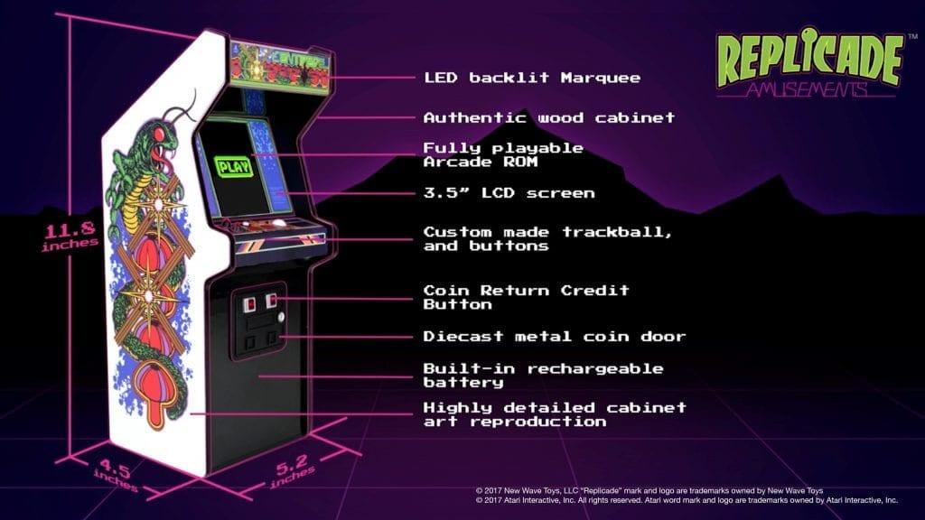 Brand New Mini Arcade Cabinet Hits The Uk Europe Play Atari S Centipede