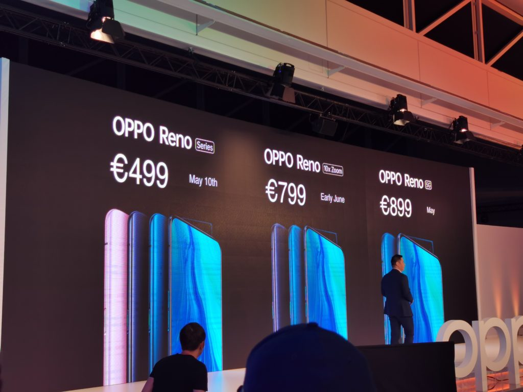 Oppo announced the Reno 5G and 10x Zoom at Zurich event