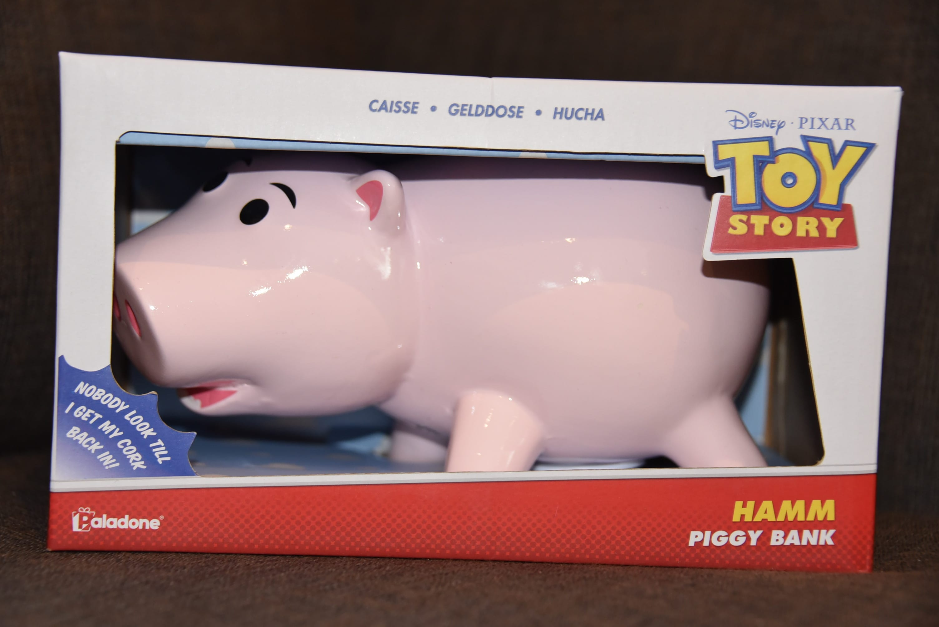 New Disney Pixar Toy Story Hamm Piggy Bank with real cork plug